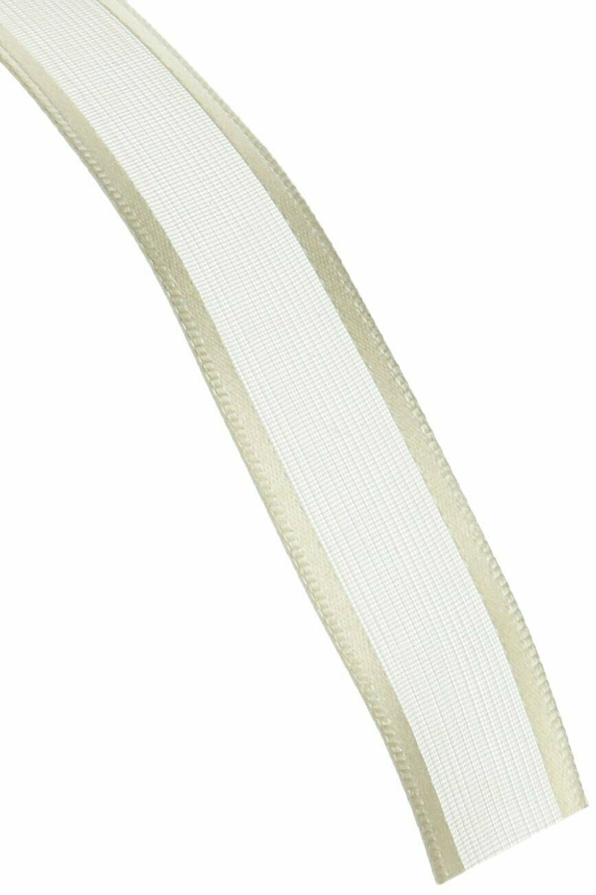Meta 2-1//2-Inch Wide by 25-Yard Spool Offray Wired Edge Metalique Craft Ribbon
