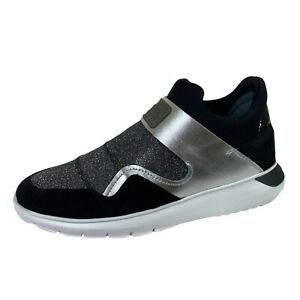 E78 sneakers donna HOGAN H371 SLIP ON INTERACTIVE3 black shoes ...