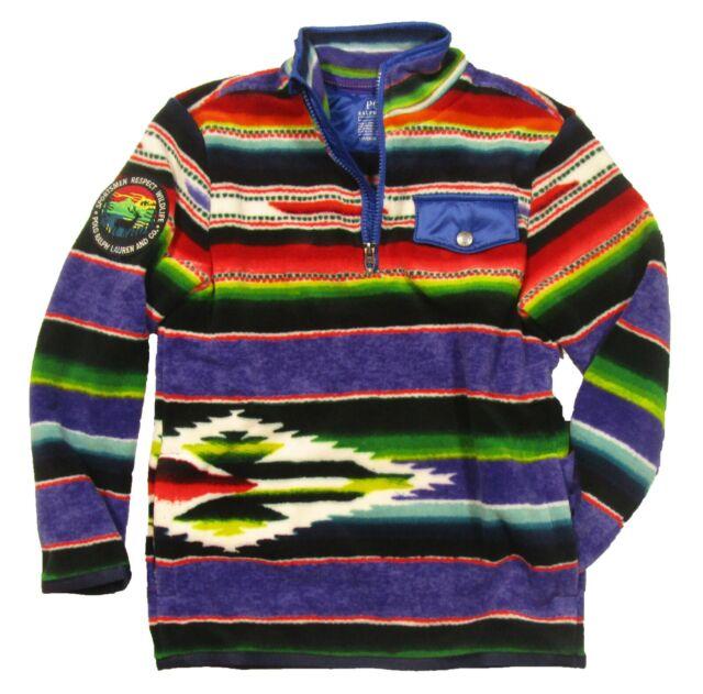 Ralph Serape Polo 12 Outdoors Multi Stripe Fleece Boys Great Jacket Lauren Zip xrdBCeo