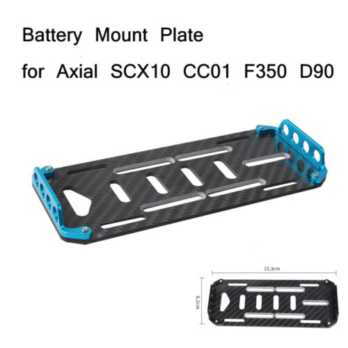 Battery Mount Plate for 1//10 Scale RC Crawler Axial SCX10 CC01 F350 D90 RC Car