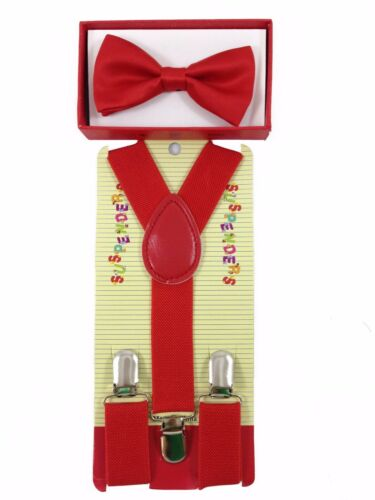 Simple /& Elegant Suspender and Bow Tie Set for Boys Girls Children Yellow