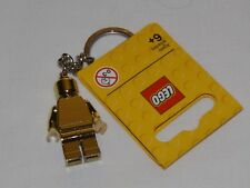 LEGO CHROME GOLD KEY CHAIN KEYCHAIN MINIFIGURE