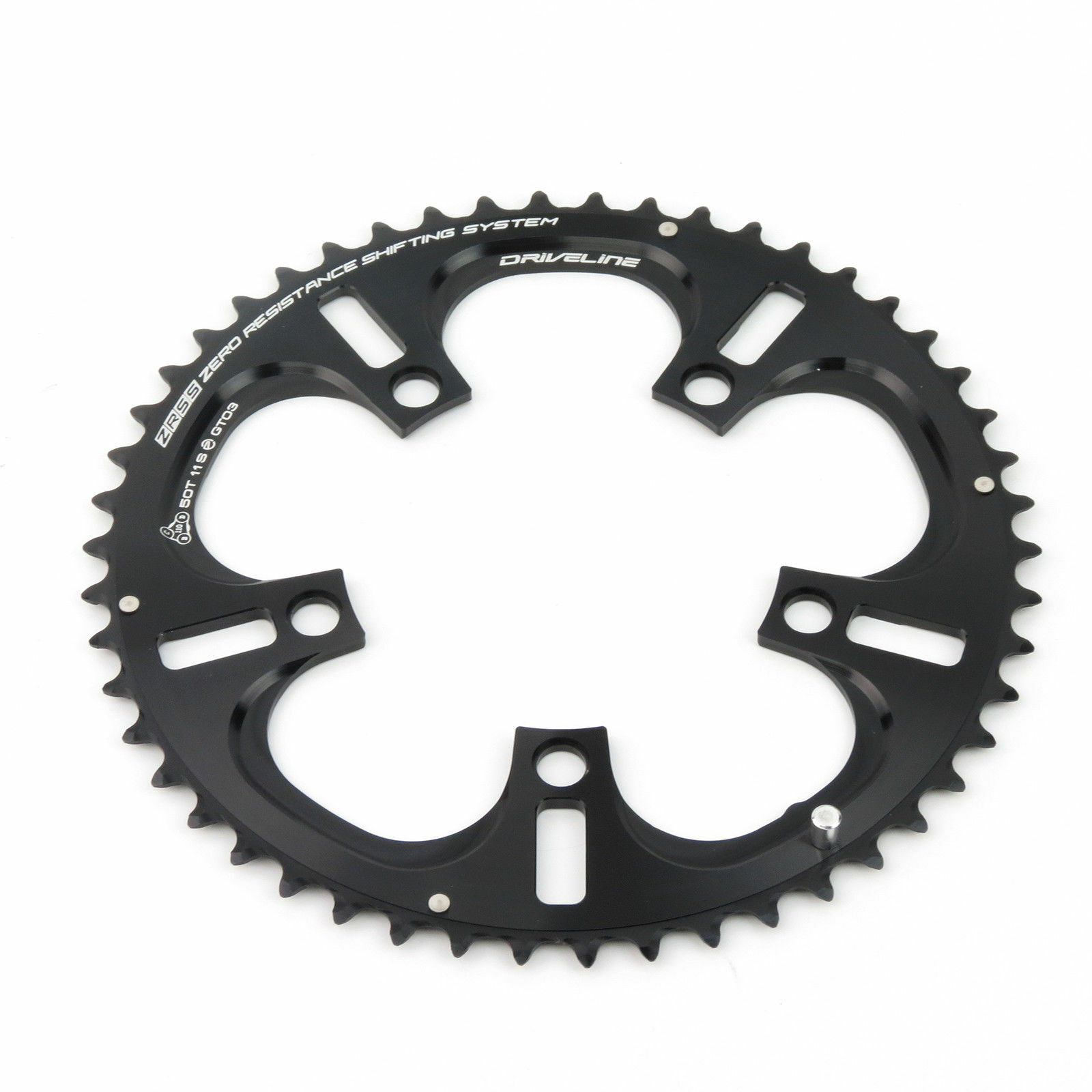 Driveline ZRSS GT03 11-speed 50T BCD 110mm Road Bike Bicycle Chainring Guard