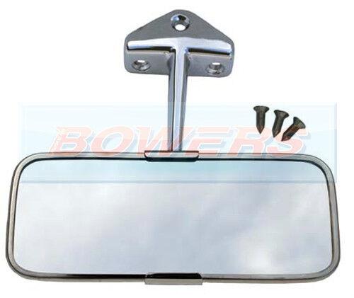 Austin BMC Classic Mini Stainless Steel RH Clamp-On Circular Overtaking Mirror