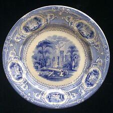 "Antique Edward Challinor Corinthia Blue And White Transferware Plate 9"""