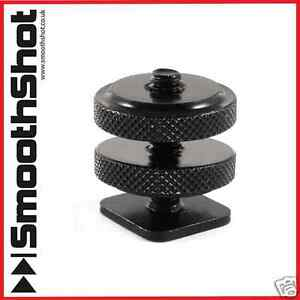 """1/4""""-20 TRIPOD SCREW TO FLASH HOT SHOE COLD SHOE HIGH QUALITY DSLR ADAPTER MOUNT"""