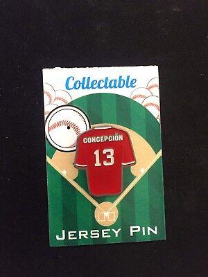 Weitere Ballsportarten Erfinderisch Cincinnati Reds Dave Concepcion Revers Pin-big Rot Maschine Legend-collectable Sport