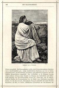 DernièRe Collection De Iphigenia De A. Feuerbach Gravure Sur Bois-vignette De 1873-gnette Von 1873 Fr-fr Afficher Le Titre D'origine