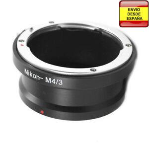 Anillo-adaptador-lentes-Nikon-a-micro-Cuatro-Tercios-micro4-3-micro-Four-Thirds