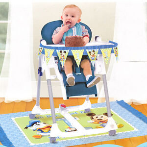 Disney baby mickey mouse new 1st birthday party high chair for Baby mickey decoration ideas