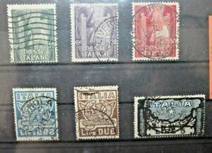 ITALIA-REGNO-1923-034-MARCIA-SU-ROMA-034-TIMBRATI-USED-SET-CAT-B