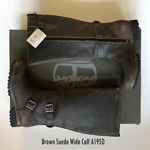 NWT-Timberland-Women-039-s-Wheelwright-Tall-Waterproof-Suede-Boots-New-Brown-amp-Black