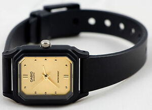 Casio-LQ-142E-9A-Ladies-Gold-Analog-Square-Watch-Classic-Resin-Band-New