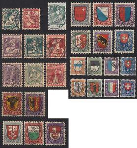 Schweiz-Pro-Juventute-1913-1923-10-Jahre-komplett-bitte-ansehen