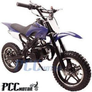 Free Shipping Kids 49cc 2 Stroke Gas Motor Dirt Mini Pocket Bike Blue H Db50x Ebay