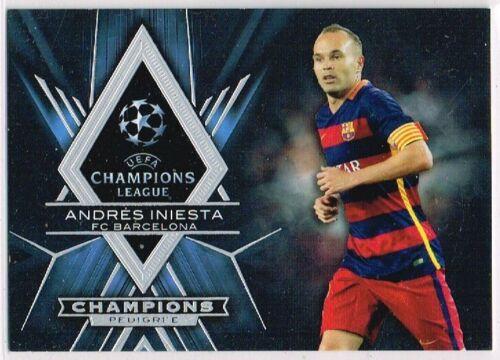 Escaparate de Liga de Campeones 2015-2016 Tarjetas De Fútbol De Campeones Pedigree ☆ ☆