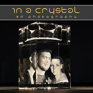 3D CRYSTAL PHOTO   CANDLE HOLDER   CUSTOMISED PERSONAL GIFTS - <span itemprop=availableAtOrFrom>Central London, United Kingdom</span> - All crystals dispatched are thoroughly checked for defects before being sent. In the unlikely event of you finding a defective crystal please contact us within 14 days. Most purcha - Central London, United Kingdom