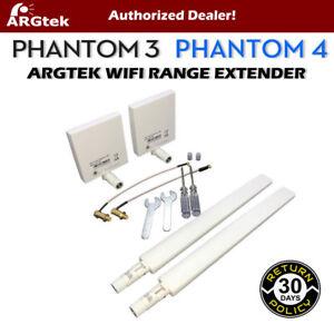 ARGtek-DJI-Phantom-4-amp-3-Pro-Advanced-WiFi-Signal-Range-Extender-Antennas-New