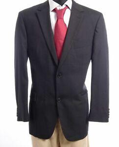 HUGO BOSS Sakko Jacket Pasolini Gr.54 schwarz gestreift Einreiher 2-Knopf -S704