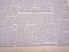 1931 OCTOBER 20 NEW YORK TIMES - 10,000 MOURNERS PASS EDISON'S BIER - NT 5013