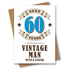 Detalles De 60th Tarjeta De Cumpleaños Vintage 60 Años Sesenta Marido Hermano Papá Hombres Grandad Abuelo Ver Título Original