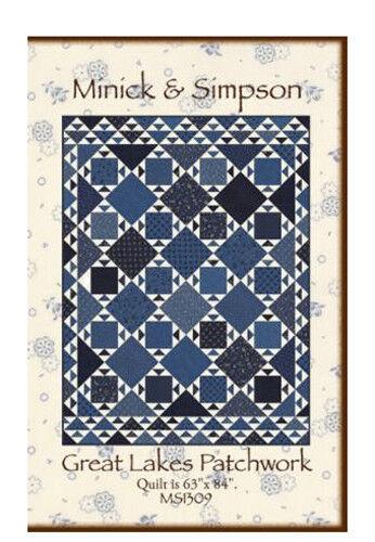 Quilt Pattern BLUE GARDEN Fat Quarter Friendly MINICK /& SIMPSON MODA Lexington