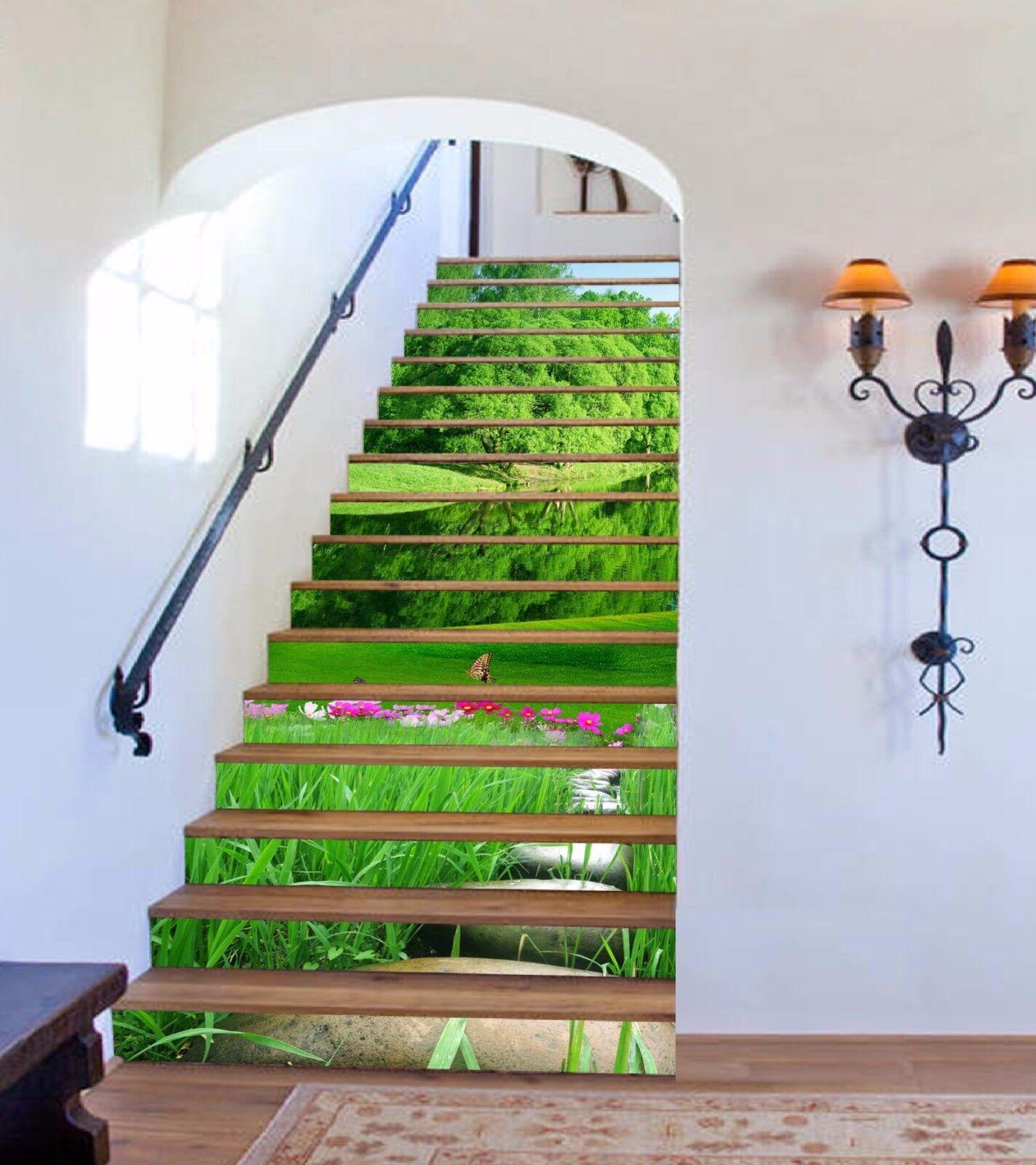 3D Fresh Tree 978 Stair Risers Decoration Photo Mural Vinyl Decal Wallpaper AU