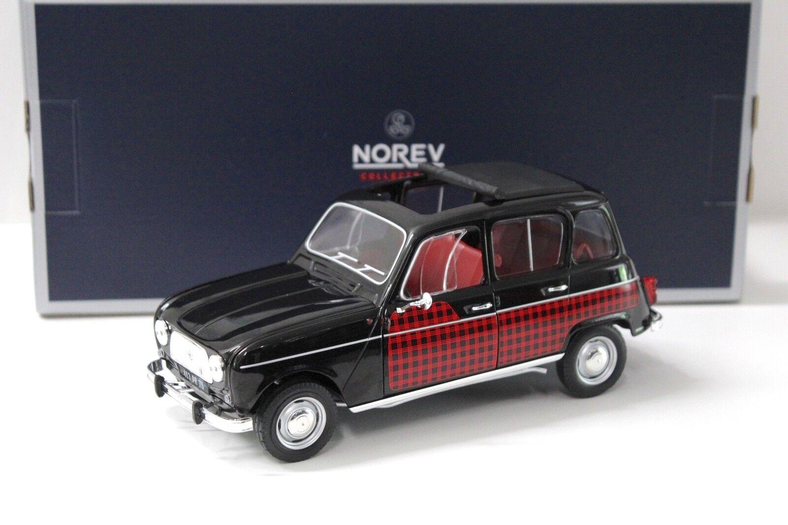1 18 norev renault 4 parisienne 1964 nero rosso New en Premium-modelcars