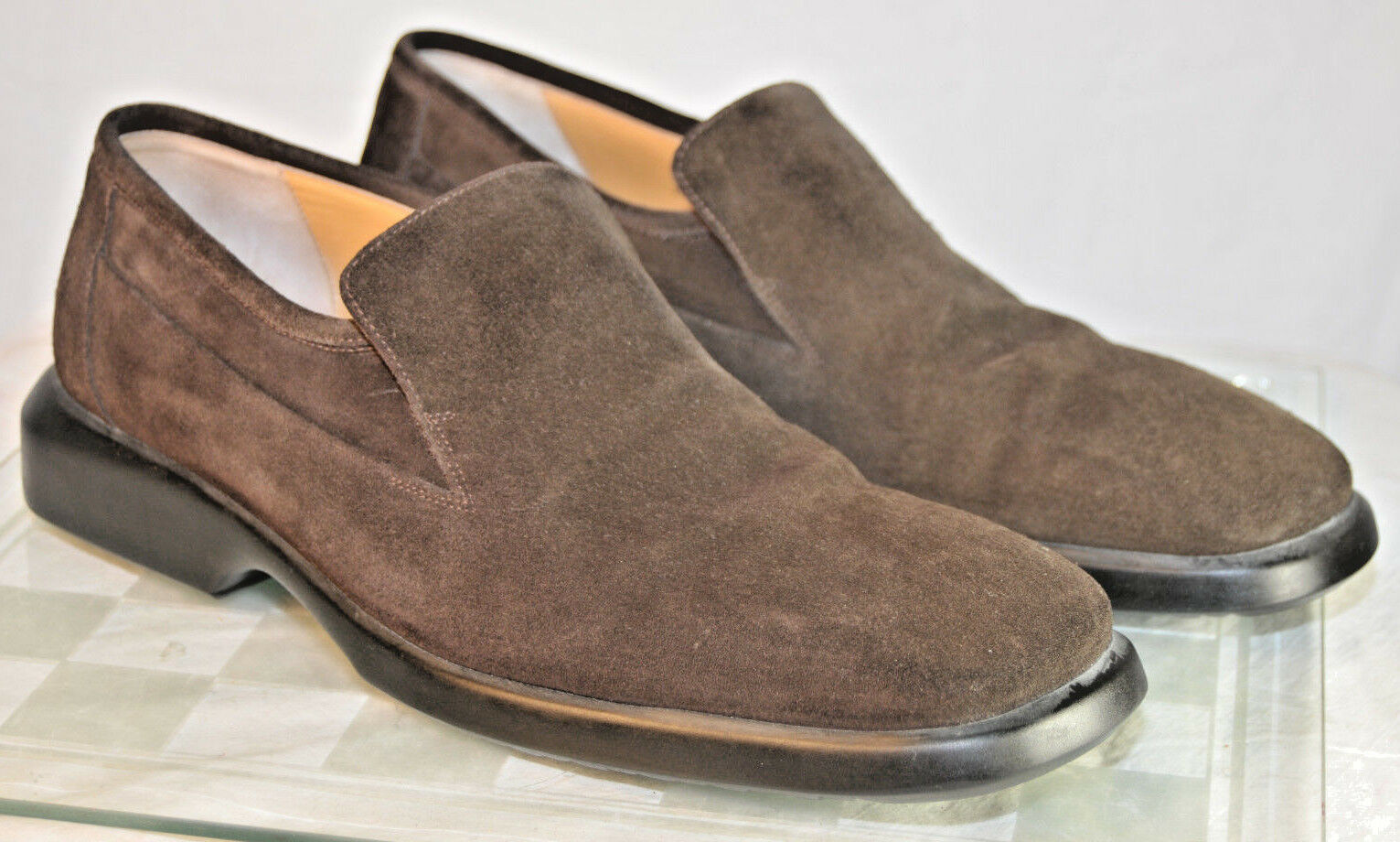 BALLY MEN'S Dark Brown Suede LOAFERS SIZE 10.5 D