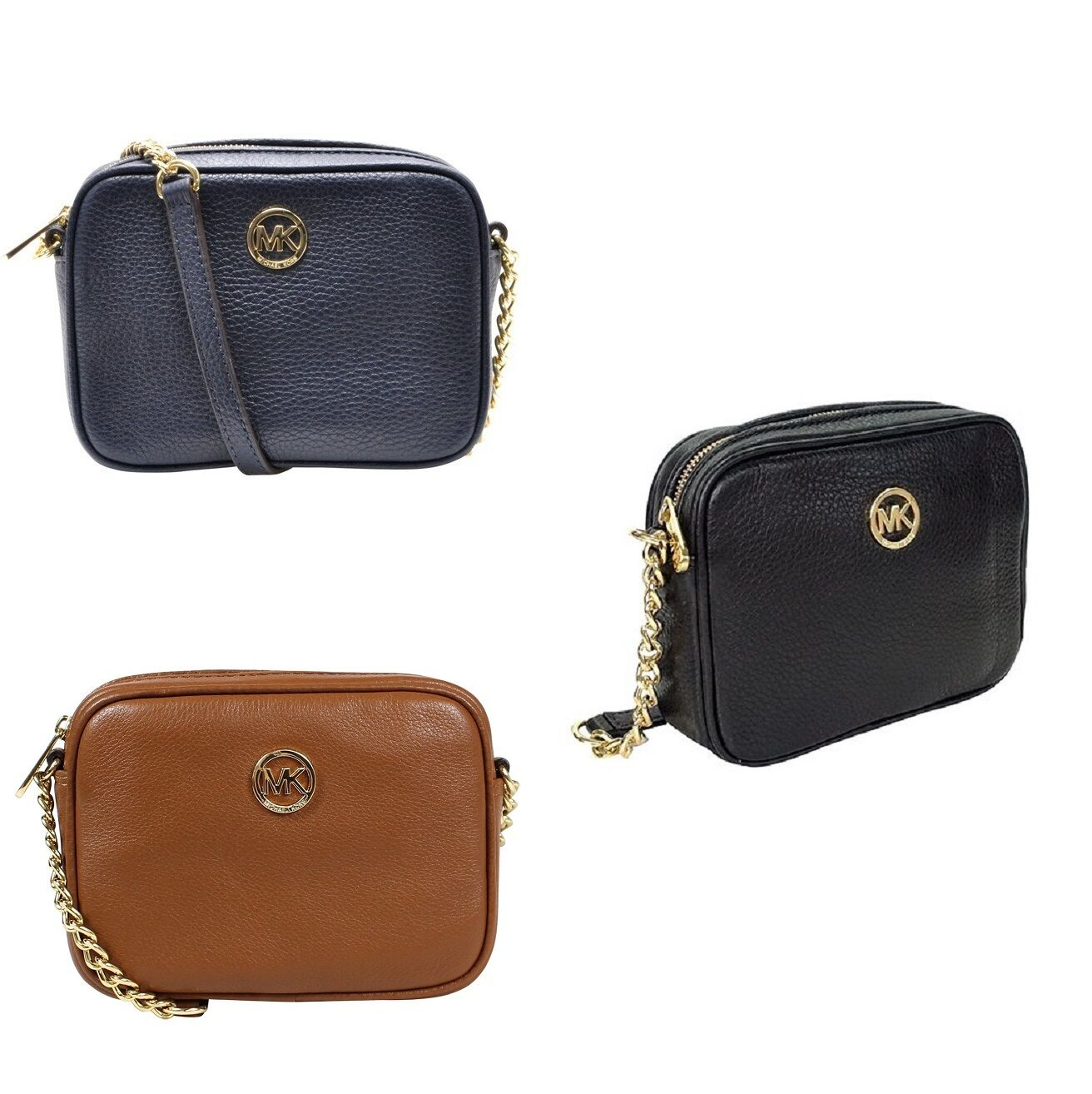 new michael kors fulton small crossbody leather bag in