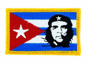 FLAG PATCH PATCHES CUBA CHE GUEVARA IRON ON COUNTRY EMBROIDERED WORLD FLAG