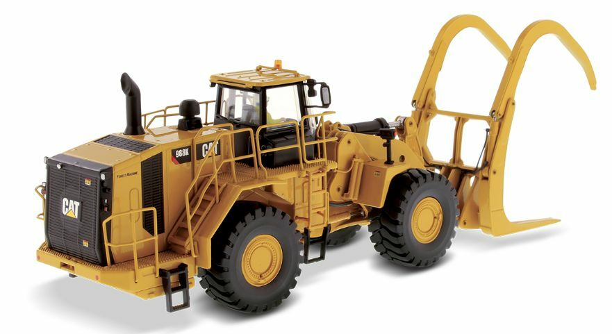 DIECAST MASTERS 85917 1 50 SCALE CAT 988K WHEELED LOADER WITH LOAG GRAPPLE (MIB)