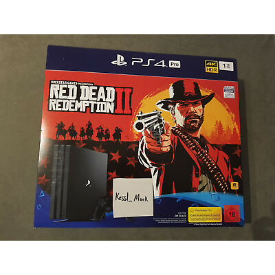 PS4 Pro 1 TB Red Dead Redemption 2 Bundle PlayStation 4 Pro CUH-7216B NEU OVP