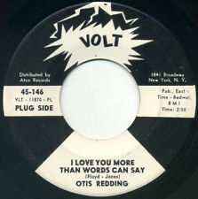 """OTIS REDDING I Love You More Than Words Can Say 7"""" 1967 one-sided promo VG"""
