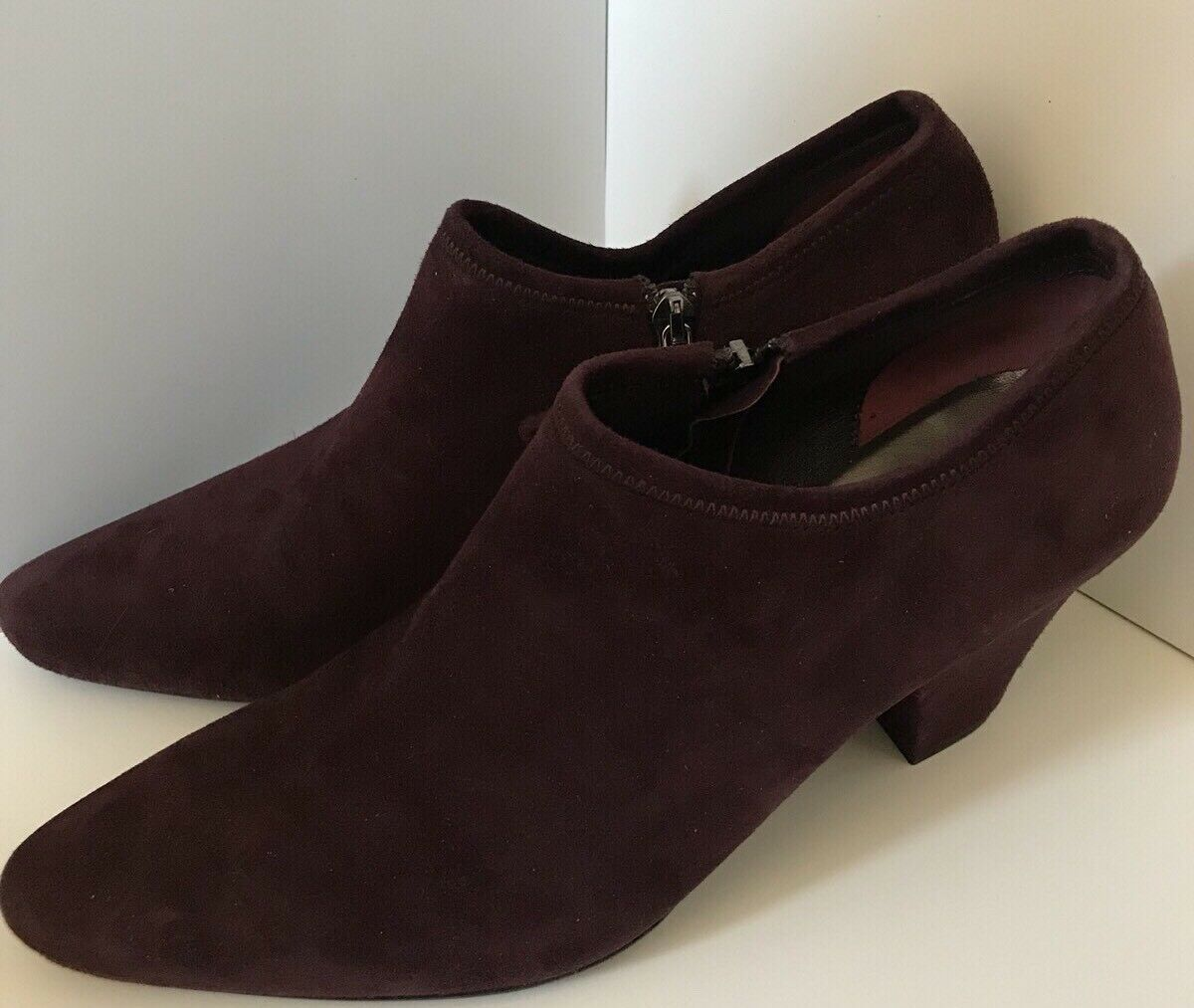 Prada NWOB Purple Suede Closed Toe Bootie Size 8