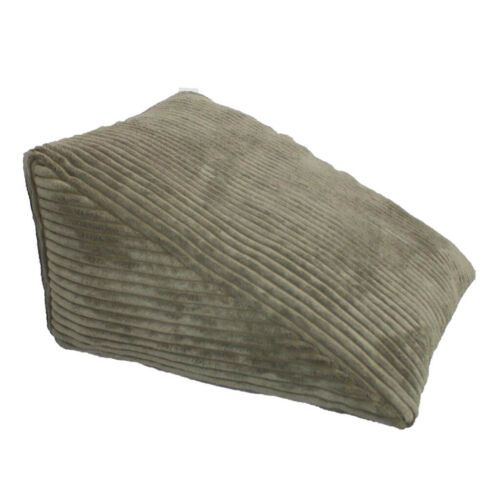 Strip Velvet Triangle Wedge Pillow Reading Backrest Cushion Sofa Headboard