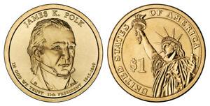 James-Polk-President-Dollar-Coin-034-D-034-Mint-New-2009
