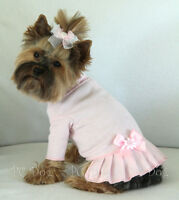 S Baby Pink Turtleneck T Shirt Dog Dress Knit Clothes Pet Apparel Small Pc Dog®