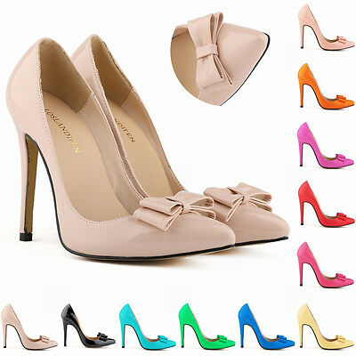 Womens Patent High Heels Corset Wedding Pumps Party Court Shoes Size US 4-11