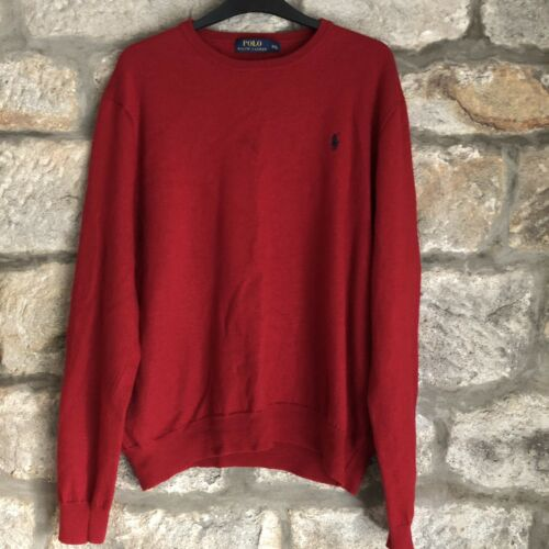 In Red Sweater Polo Merino Ralph Lauren Wool Jumper 7TgYRWZ