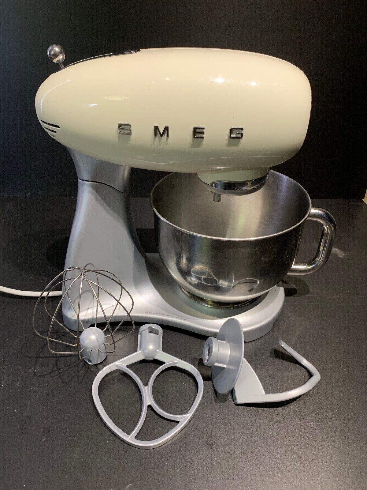 SMEG Cream 50's Retro Style 5-Quart Stand Mixer Stainless Steel Bowl SMF01CRUS