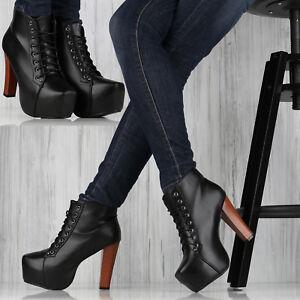 Stiefeletten 10cm Pumps Stilettos Ankle Boots Italy Plateau