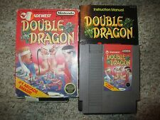 Double Dragon (Nintendo NES, 1988) Complete in Box Black Circle POOR