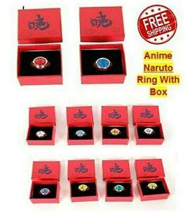 Anime Naruto Ring With Box Akatsuki Itachi Pain Konan ...