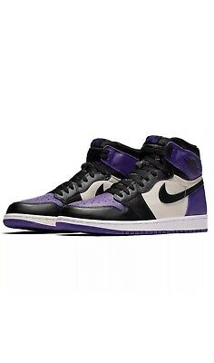 2a0bdb8bda8 Nike Air Jordan 1 Retro High OG Court Purple Black Sail 555088-501 ...
