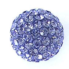 10 Black Diamond Rhinestone clay pave 12mm beads for Shamballa Bracelets