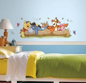 WINNIE THE POOH OUTDOOR FUN GiaNT WALL DECALS Kids Stickers Baby Nursery Decor