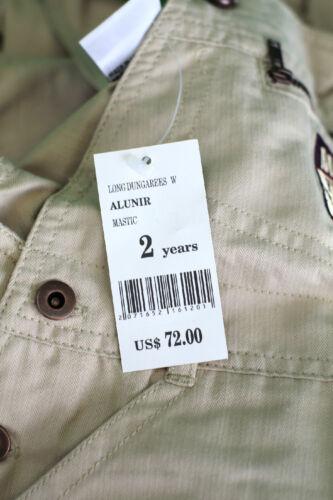JACADI Boy/'s Alunir Mastic Beige Long Overalls Size 4 Years NWT $72