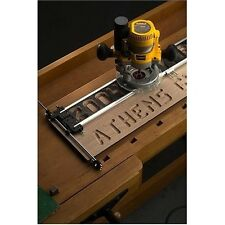 Router Signmaking Jig Low Profile Stable Bits C Clamps Templates Wood Sign Hobby