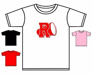 GREASE T-SHIRT BOY//GIRLS T BIRD PINK LADIES RYDELL HIGH TSHIRT NEW 0-4 YEARS